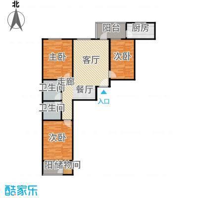 兴业苑B4户型 118.93平米 3居2厅2卫户型