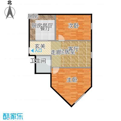 京汉铂寓(石景山)86.00㎡H'\'户型10室