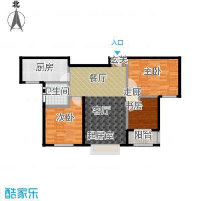 兆通华苑92.62㎡兆通华苑92.62㎡3室2厅1卫户型3室2厅1卫