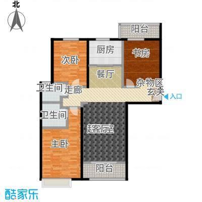 兆通华苑134.12㎡兆通华苑134.12㎡3室2厅2卫户型3室2厅2卫