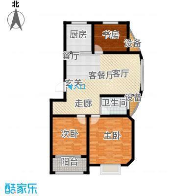 逸景和公馆114.09㎡A2 三室一厅一卫户型3室2厅1卫