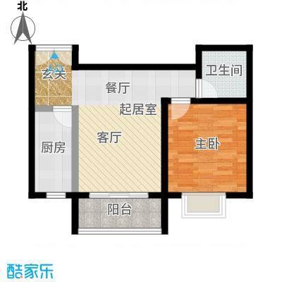 锦绣江南户型1室1卫1厨