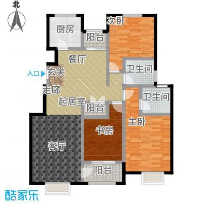 中国铁建・北京山语城125.00㎡C2户型3室2卫1厨