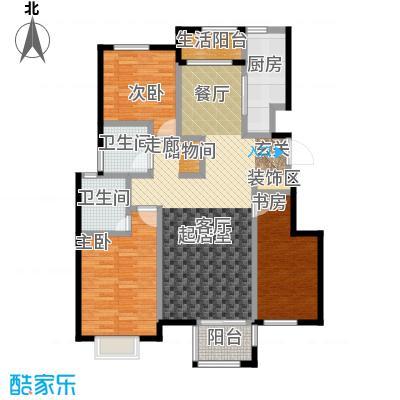 中国铁建・北京山语城B1户型3室2卫1厨