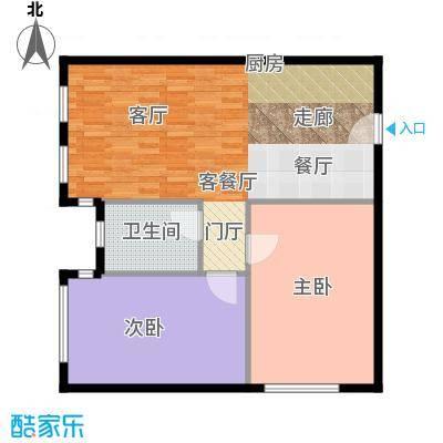 绿地启航社92.00㎡C1户型2室1厅1卫