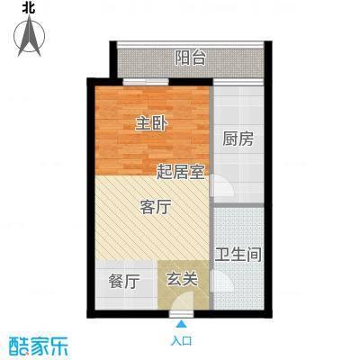 恒泰公馆53.43㎡C3户型1室1厅1卫