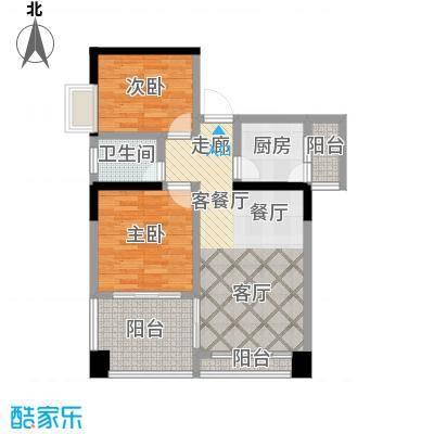 蓝色海岸国际家园户型2室1厅1卫1厨