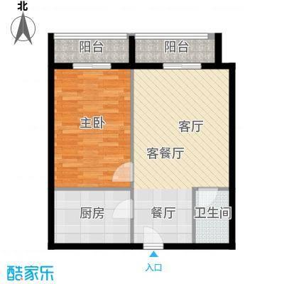 恒泰公馆61.73㎡D4户型1室1厅1卫
