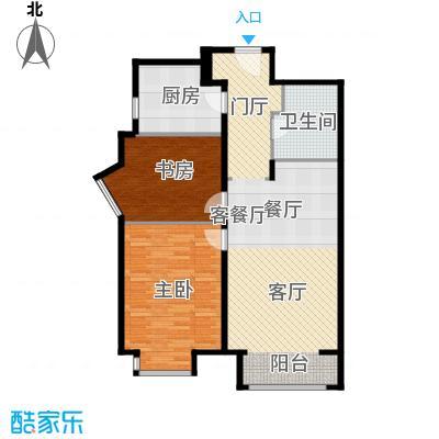 华润置地・润景公馆98.00㎡2-C1#楼精装-C2户型2室2厅1卫
