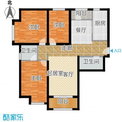 华业东方玫瑰130.00㎡c10户型3室2卫1厨