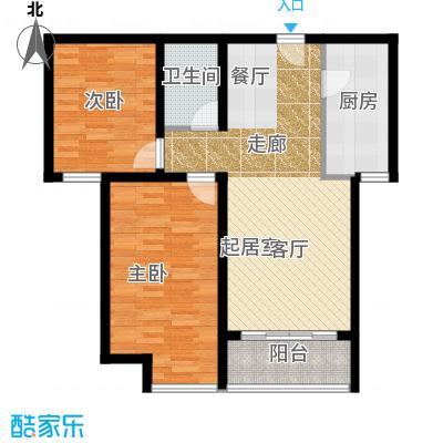 华业东方玫瑰92.00㎡C4户型2室1卫1厨