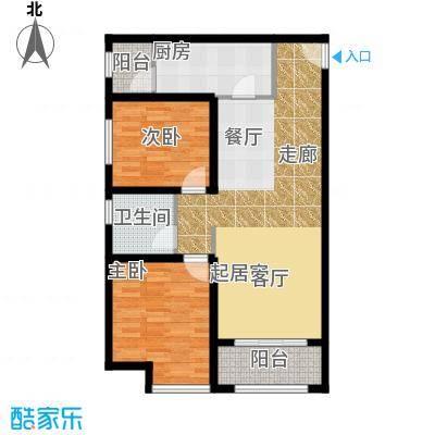 华业东方玫瑰90.00㎡C10-03户型2室1卫1厨