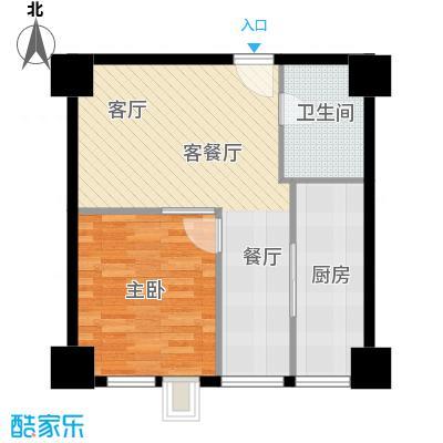 朝阳首府57.35㎡N户型10室