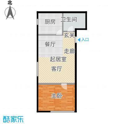 河和居69.60㎡2、9号楼平层户型10室