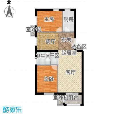 朱辛庄限价房B(1-1)户型2室1卫1厨