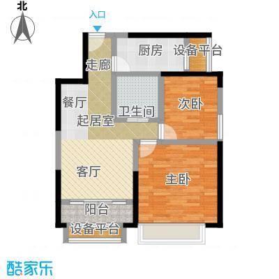 蓝光星华・海悦城73.00㎡C户型两室一厅一卫户型2室1厅1卫