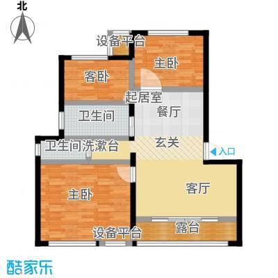 御景湾89.00㎡三房二厅一卫-89平方米-6套户型