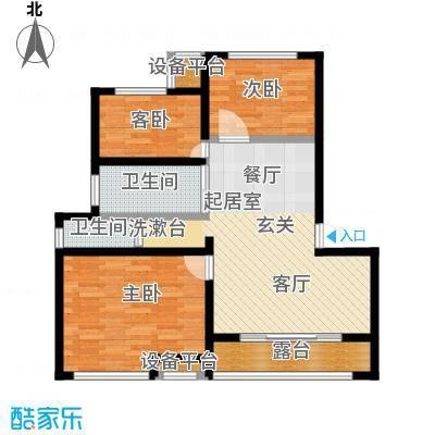 御景湾86.00㎡三房二厅一卫-86平方米-8套户型