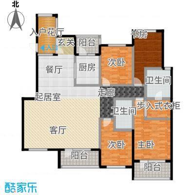 金融街・金色漫香苑188.00㎡户型4室2卫1厨