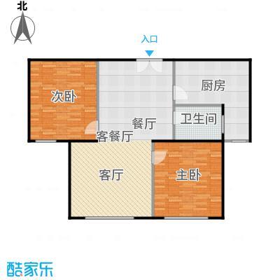 京汉铂寓(顺义)105.08㎡乙―2户型2室1厅1卫1厨
