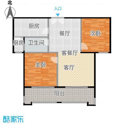 京汉铂寓(顺义)98.37㎡甲―2户型2室1厅1卫2厨