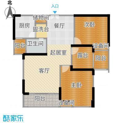常州红星国际广场99.52㎡B5#楼99.52平米A2户型3室2厅1卫
