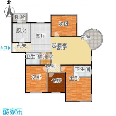 京汉铂寓(顺义)148.12㎡乙―3户型4室2卫1厨