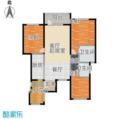 金融街・金色漫香苑138.00㎡户型3室2卫1厨