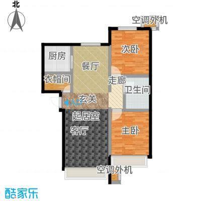 保利罗兰香谷二期90.00㎡B4户型 两室两厅一卫户型2室2厅1卫