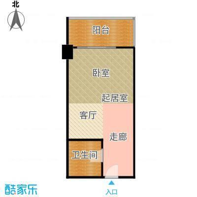 逸品尚枫公寓53.47㎡一居户型