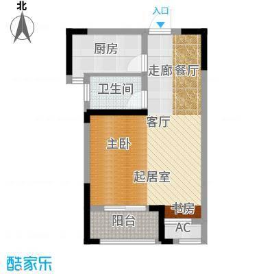 长宇棕榈湾58.00㎡G户型一房一厅一卫58平米户型1室1厅1卫
