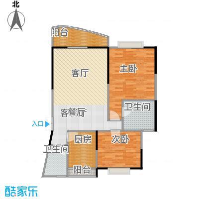 锦绣江南二期户型2室1厅2卫1厨