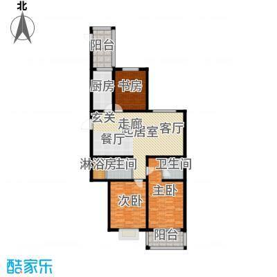 卓冠美景城138.80㎡3#楼C/E户型138.8平米户型3室2厅2卫