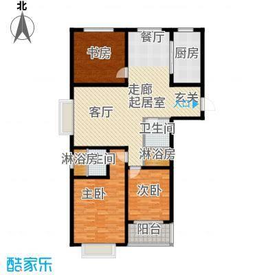 卓冠美景城135.77㎡3#楼A户型135.77平米户型3室2厅2卫