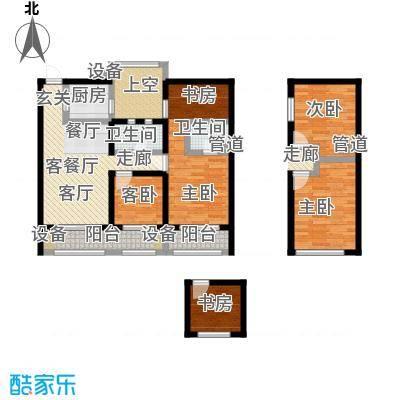 绿地外滩1号110.86㎡1#、2#、4#E-2三房两厅两卫户型3室2厅2卫