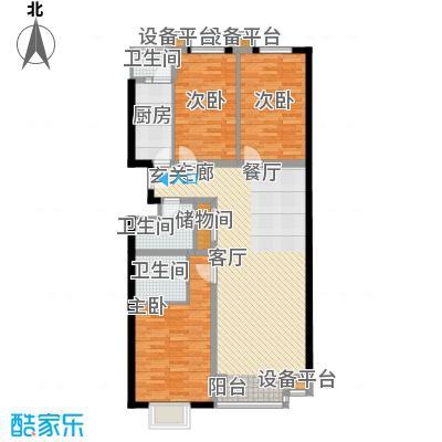 西山枫林130.17㎡三室两厅两卫户型