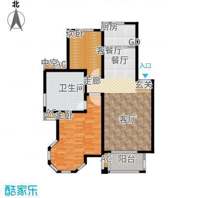 海上普罗旺斯两房两厅两卫户型