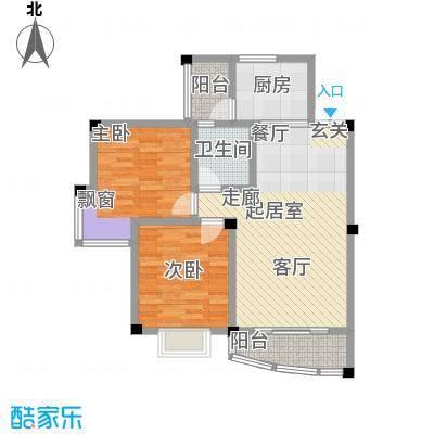 江南水乡(二期)71.04㎡房型: 二房; 面积段: 71.04 -75.18 平方米;户型