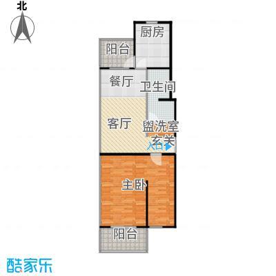 回龙观文化居住区75.00㎡一居室户型