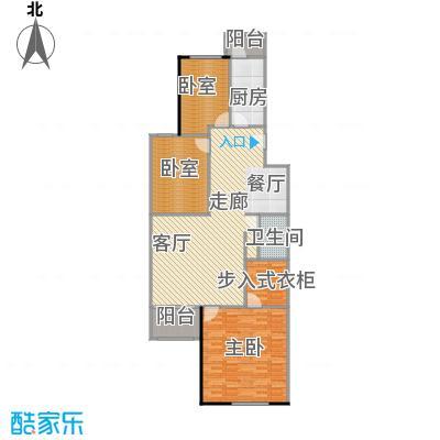 回龙观文化居住区114.00㎡三居室户型