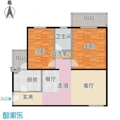 回龙观文化居住区95.00㎡二居室户型