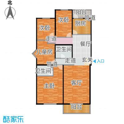 回龙观文化居住区137.00㎡四居室户型
