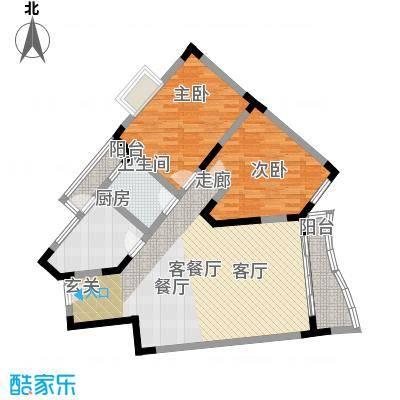 巴蜀怡苑(一期)64.69㎡房型: 二房; 面积段: 64.69 -73.94 平方米;户型