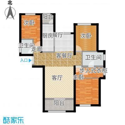 TBD云集中心140.00㎡D户型3室2厅2卫