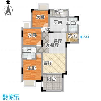 海兰云天拾光里7号楼C户型3室1厅2卫1厨