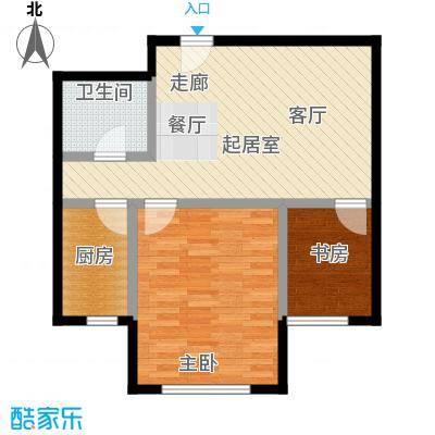 永昌・维多利亚广场D-2户型2室1卫1厨