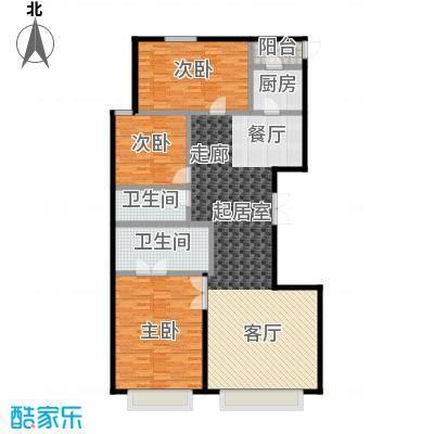 永昌・维多利亚广场E-1户型3室2卫1厨