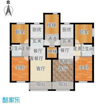 首旅・紫峰九院城通州于家务自住型商品房85.00㎡户型2室2厅2卫2厨