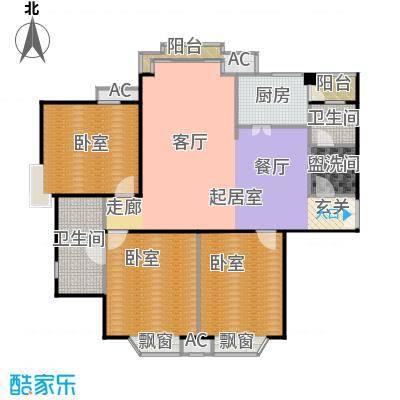 瑞海姆公寓133.00㎡A户型三居户型