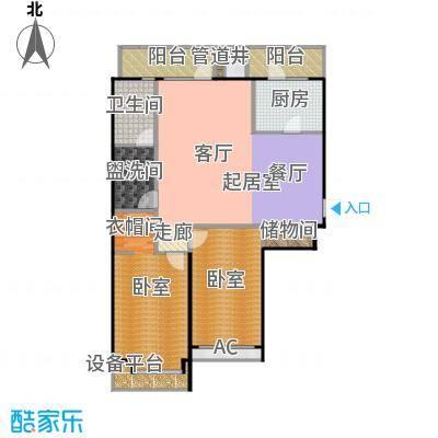 瑞海姆公寓127.00㎡A户型二居户型